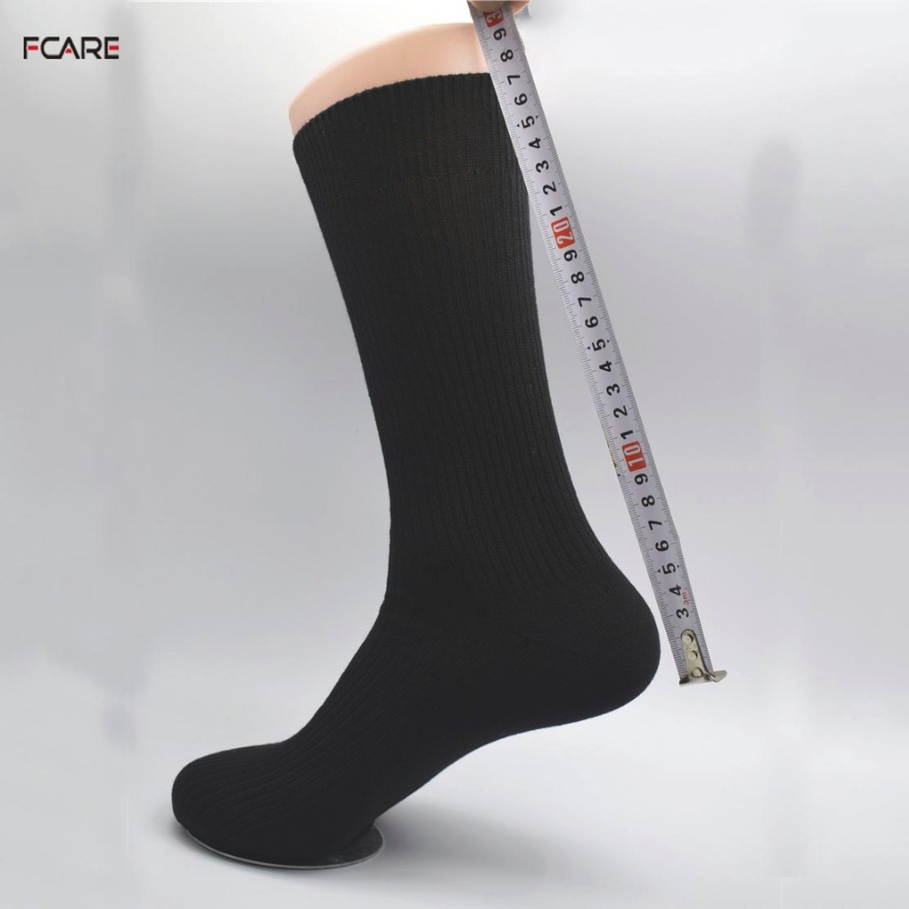 Fcare 6PCS=3 pairs 39, 40, 41, 42 calzini lunghi uomo black men dress socks business socks long leg socks calcetines