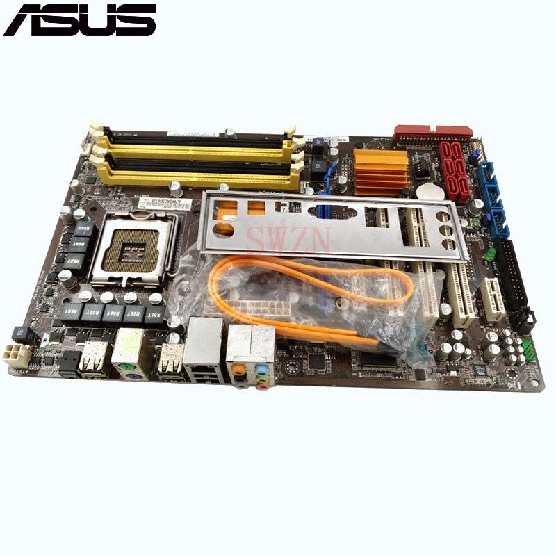 Оригинальный использоваться для настольных ПК для ASUS P5Q SE плюс Поддержка lga 775 4 * DDR2 поддержка 16 г 6 * SATA2 USB2.0 ATX