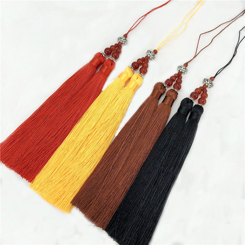 6pcs/lot double tassel silk fringe sewing bangs Lotus flower tassel pendant tassels for  ...
