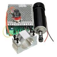 500W 스핀들 모터 ER11 척 CNC  52mm 클램프 및 CNC 기계 용 전원 공급 장치 속도 조정기