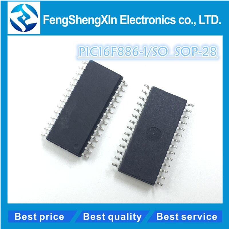 10pcs/lot New PIC16F886 PIC16F886-I/SO SOP-28 Enhanced Flash-Based 8-Bit CMOS Microcontrollers with nanoWatt Technology ic