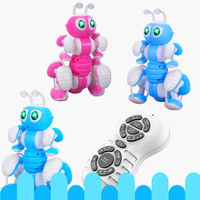 Remote Control Ant Music Story Dance Simulation Electric Ant Intelligent Programming Electric Robot Children Interactive Toy цены