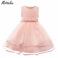 Mottelee Платье для маленьких девочек Праздничные платья для маленьких детей для малышей на день рождения Бисер платья Винтаж новорожденных Кр...