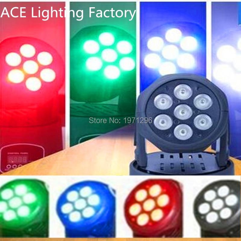 ФОТО 30pcs/lot Free&Fast Shipping hot sale good quality LED Moving Head Mini wash 7x12w RGBW Quad with advanced 14 channels