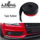 LZONE - 2.5M/ROLL 60MM WIDTH Real Carbon Fiber Car Front Bumper Lip Splitter Protector Body Spoiler Valance Chin Rubber Black