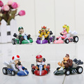 Super Mario Bros KART tira Del Coche Figuras 6 unids/set Envío Libre KART tira Coches Figuras super mario kart figura