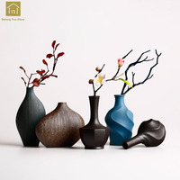 Nordic Style Ceramic Vase Vintage Home Decor Vasen Stoneware Ceramic Vase Modern Tabletop Art Flower Vase For Weddings QAB114