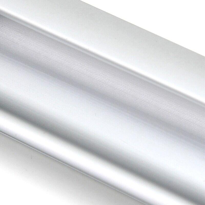 Купить с кэшбэком AOBITE Modern Hide Handles Silver Sliding Door Pulls Stealth Aluminum Closet Cupboard Drawer Concealed Flat Hardware Handle 320