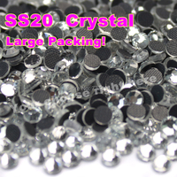2017 Bet Selling High Quality 14400 pcs SS20 Clear Crystal White Iron On Hot Fix Rhinestones Wholesale DMC Hotfix Rhinestone