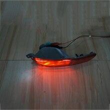 1 쌍의 자동차 후면 범퍼 안개등 램프 지프 체로키를위한 빨간색 반사판 테일 램프 2014 2015 2016