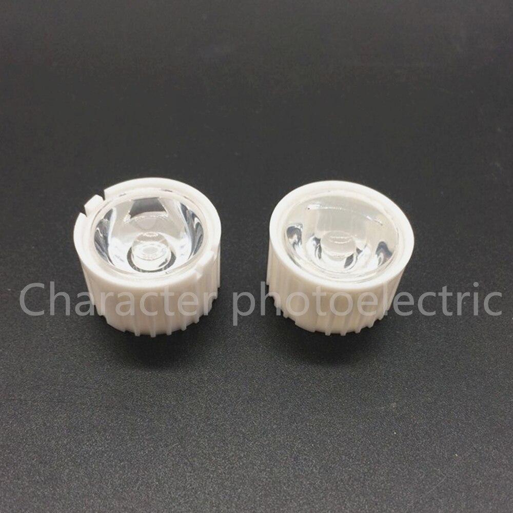 50pcs lot Led Lens 5 10 30 45 60 90 120 Degree for diy 1w 3w 5W Aquarium grow led light Black White Holder Plano Lens Reflectors in Light Beads from Lights Lighting