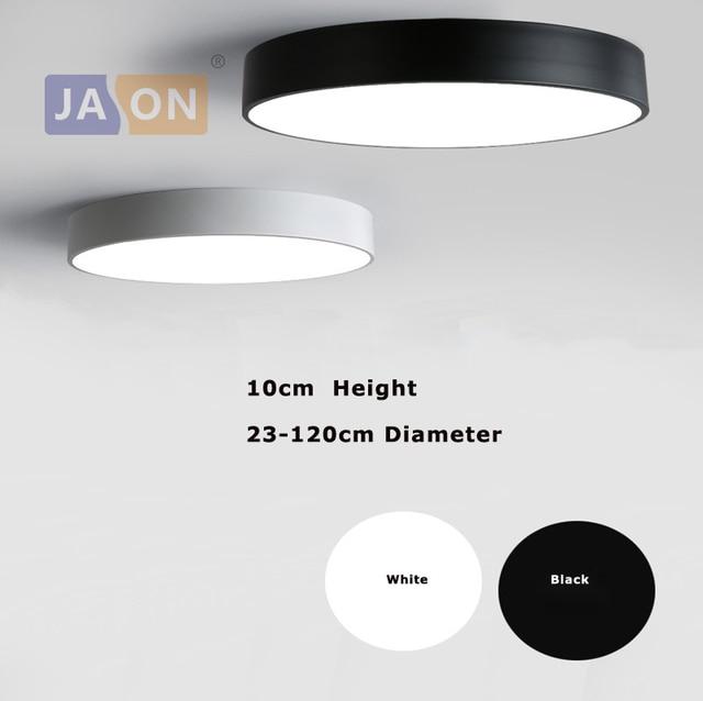 93077678dfe Lámpara LED moderna de aleación acrílica negra blanca redonda. luz LED.  luces de techo