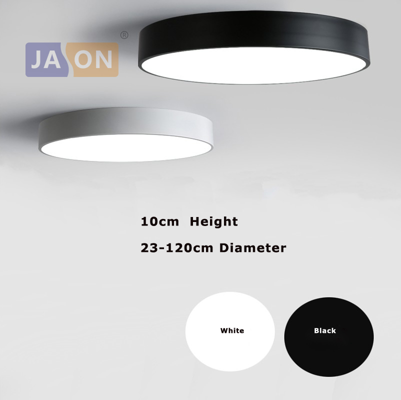 LED Nowoczesny akryl Alloy Black White Round LED Lamp.LED Light.Ceiling Lights.LED Lampa sufitowa. Lampa sufitowa do sypialni Foyer