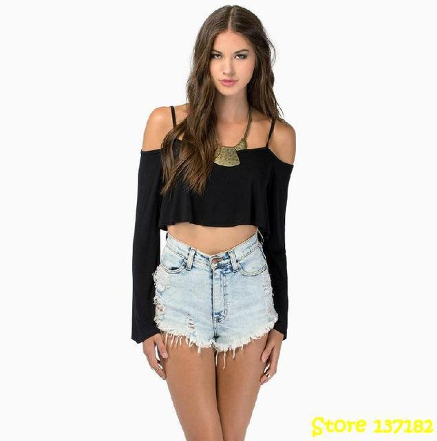 bc67c807da Atacado roupas femininas brand sexy tshirt long sleeve shirt women clothing  crop top teenage girls fashion moleton feminino geek