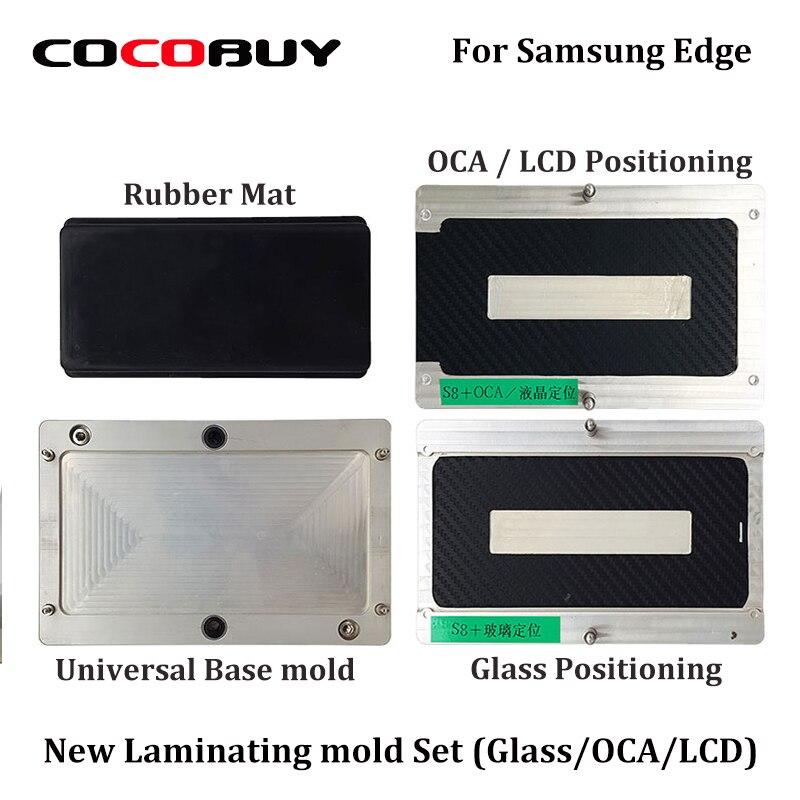 3 pz/set OCA/LCD/Vetro Allineamento Posizionamento e Laminazione Stampo Stampi Laminatore A Vuoto Universale Per Samsung S6/bordo S7 S8 S8 +