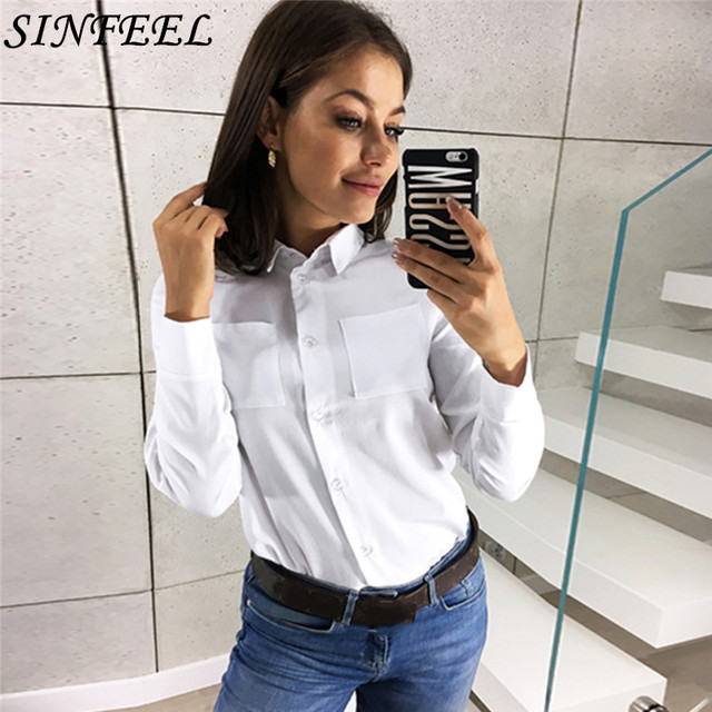 3XL 2019 New Spring Autumn Women Blouse White Long Sleeve Work Shirts Women office Ladies Tops blouse for business Plus Size