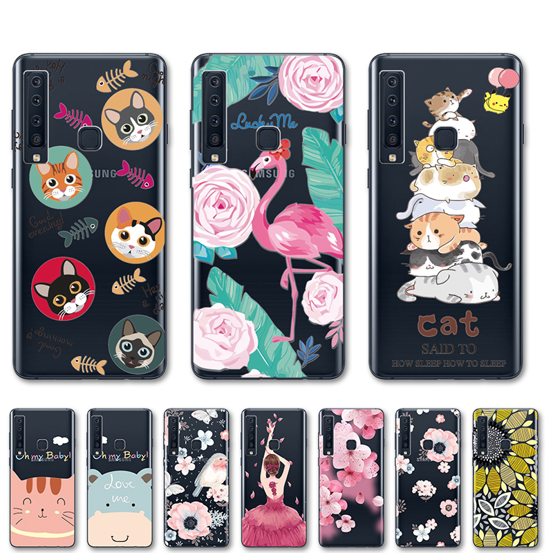 Coque For Samsung A9 2018 Lace Cases Cover Funda For Samsung Galaxy <font><b>A82018</b></font> A 8 A800F A800 SM-A800F 6.3
