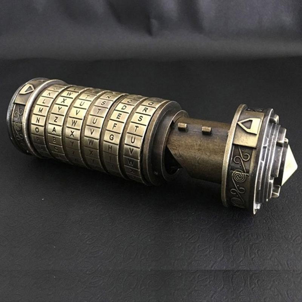 Retro Birthday Valentine Gift Box Cylinder Lockbox Da Vinci Code Alphabet Locks Storage Box Locks