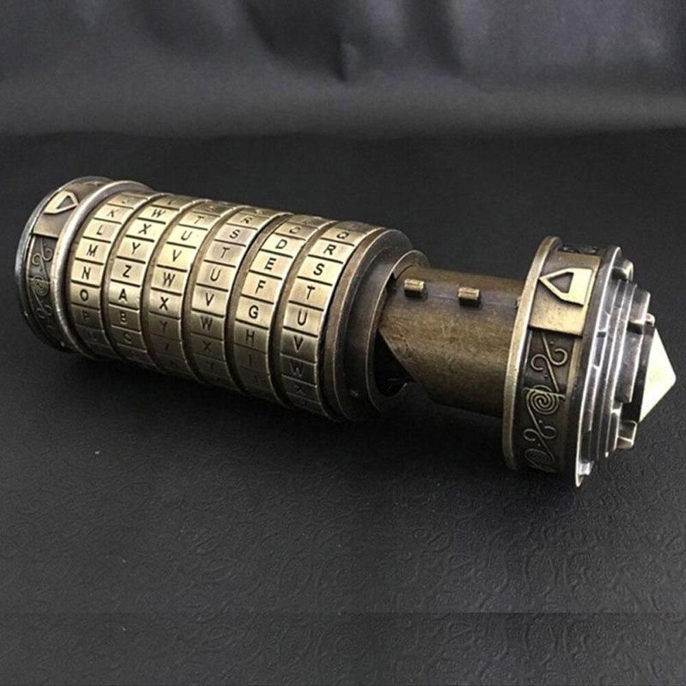Rétro Anniversaire Valentine Cadeau Boîte Cylindre Boîte Postale Da Vinci Code Alphabet Serrures Boîte De Rangement Serrures
