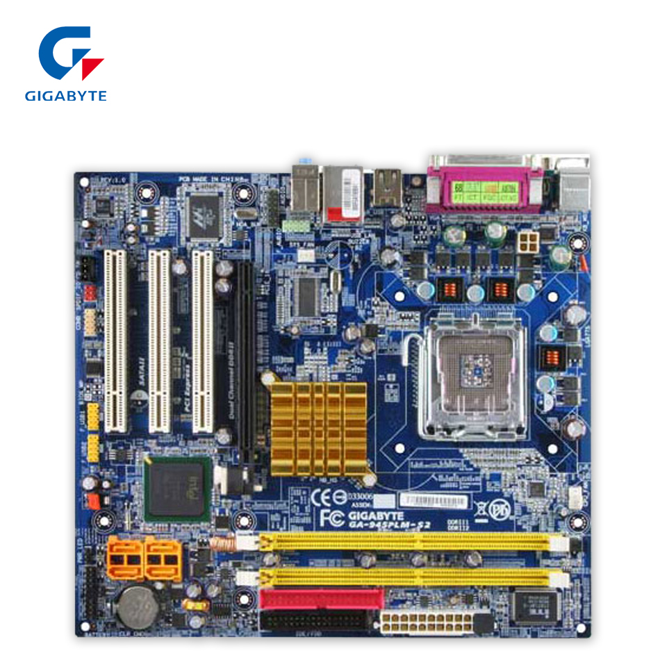 Gigabyte GA-945PLM-S2 Original Used Desktop Motherboard 945PLM-S2 945PL LGA 775 DDR2 Micro ATX original motherboard for gigabyte ga g41mt s2 lga 775 ddr3 board g41mt s2 fully integrated g41 desktop motherboard free shipping