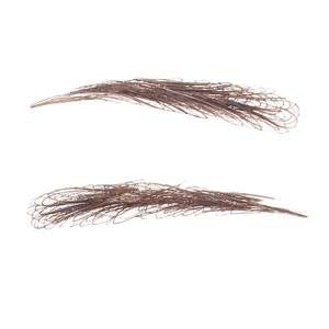 Image 5 - Handmade Human Hair False Eyebrows Lace Base For Women For Party Wedding Cosplay Star Fake Eyebrow Synthetic Eyebrows