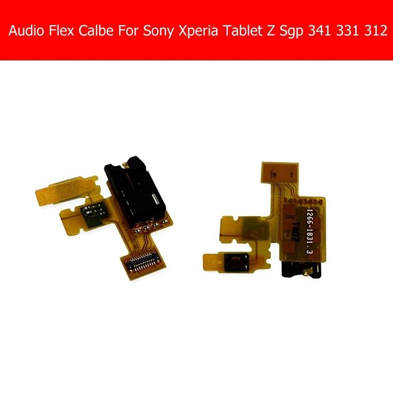 Weeten Genuine headphone Audio Jack flex cable For Sony Tablet Z Sgp 341 331 312 earphone port flex cable ribbon replacement