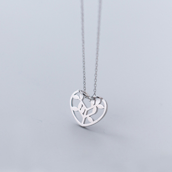 XIHA 925 Sterling Silver Choker Statment Necklaces for Women Heart Love Tree of Life Pendant Necklace valentine's day present 3