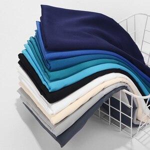 Image 1 - Foulard en Satin lisse, couleur mate, châle musulman, couleur unie, Hijab en Satin, écharpe musulmane, 32 couleurs au choix, 2020