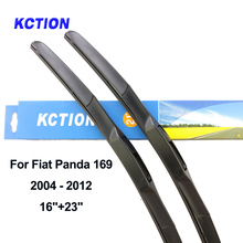 Windshield front wiper blade windscreen rear wiper car accessories for Fiat Panda Type 169 319 Fit Hook Arms/ Push Button Arms цена 2017