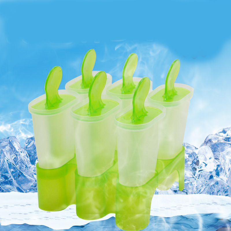 Image 2 - Lolly Mould Tray Pan Kitchen Randomly color 6 Cell Frozen Ice Cube Molds Popsicle Maker  DIY Ice Cream Tools Cooking tools-in Ice Cream Makers from Home & Garden