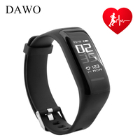 DAWO Fitness Bracelet Activity Tracker Heart Rate Sleep Monitor IP67 Waterproof Sport Smart Wristband For Android