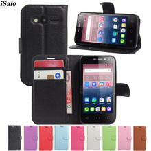 Cover Card-Holder Phone-Case Alcatel for Pixi 4-4.0/4034d/Wallet OT-4034D with TPU