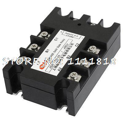 цена на Panel Mount 8 Terminals 3 Phase SSR Solid State Relay 3.5-32VDC/480VAC 40A
