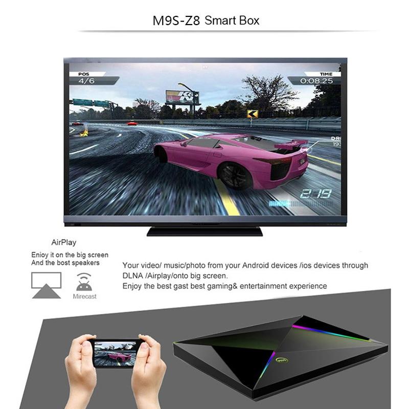 M9S Z8 Smart TV Box 6K Android 9.0 TV Box 4GB RAM 32 GB/64 GB ROM Quad Core H.265 USB3.0 2.4G WiFi IPTV décodeur PK X96 X88 MAX - 3
