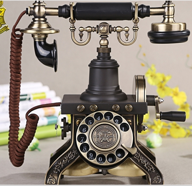 Fashion Rotate Dial Antique Vintage Old Fashioned Telephone Brand