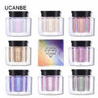 UCANBE Duo Chrome paillettes lâche fard à paupières poudre 8 couleurs holographique miroitant métallique ombre à paupières maquillage diamant brillant fard à paupières