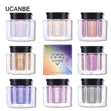 UCANBE Duo Chrome Glitter Loose Eyeshadow Powder 8Color Holographic Shimmer Metallic Eye Shadow Makeup Diamond Shining