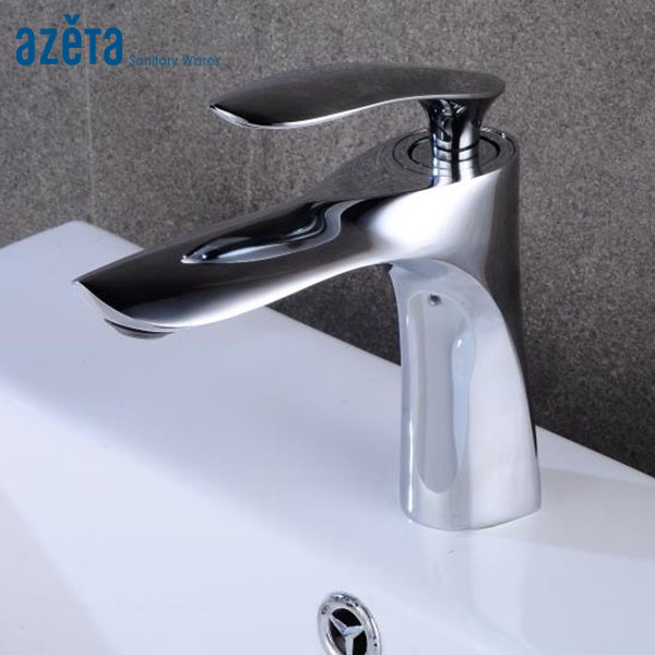 Bathroom Brass Chrome Plated Single Handle Deck Mounted Basin Faucet Lavatory Cold and Hot Water Washbasin Mixer Tap AT8889 Bathroom Brass Chrome Plated Single Handle Deck Mounted Basin Faucet Lavatory Cold and Hot Water Washbasin Mixer Tap AT8889