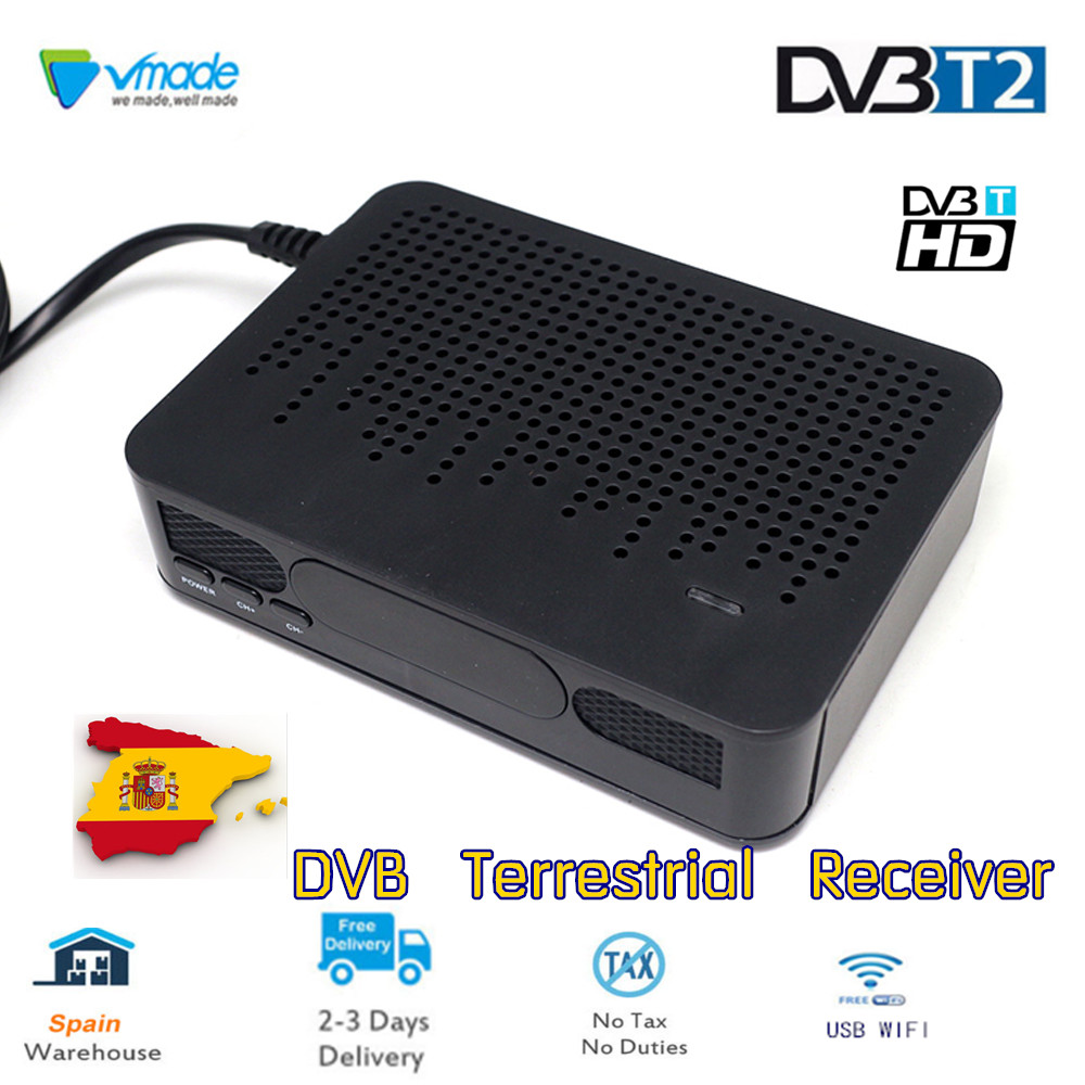 Vmade DVB T2 K3 Signal Receiver DVB-T2 TV Tuner Digital Terrestrial Set top box HD1080P Support H.264 For Europe