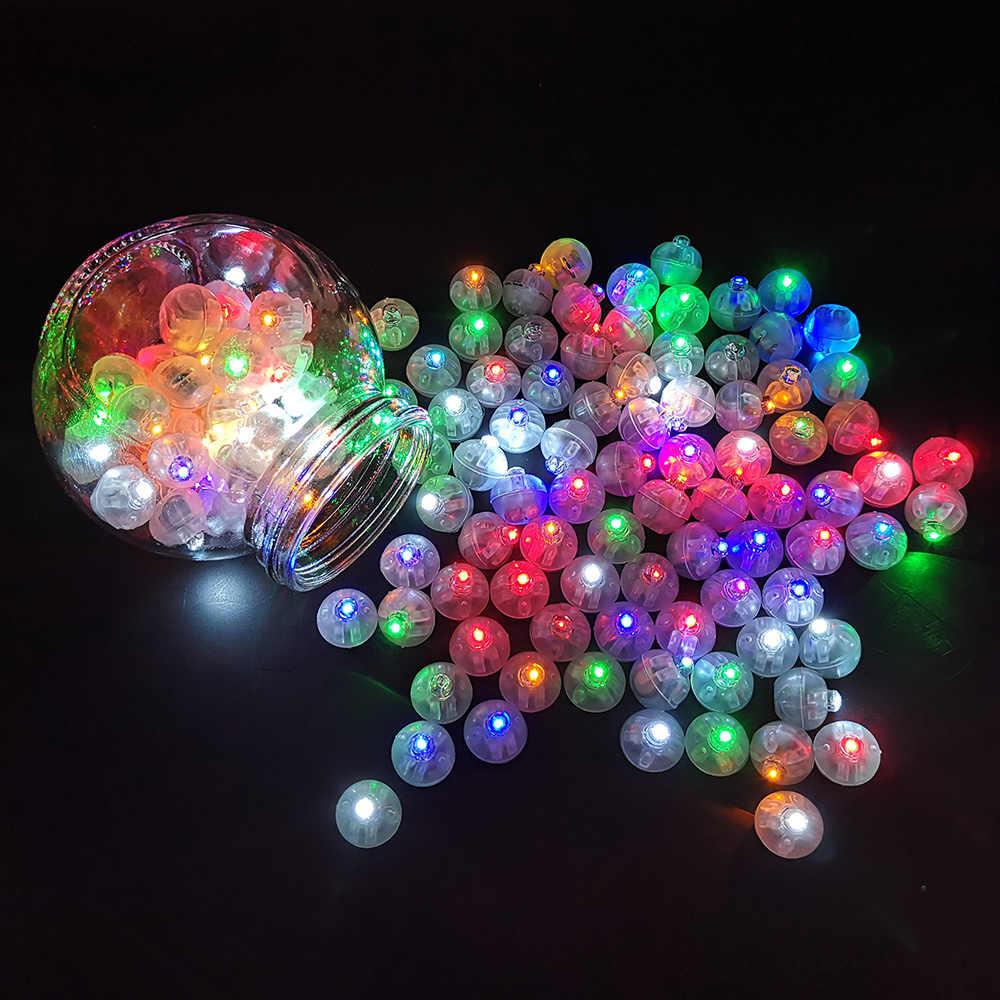 100 cái/lốc Vòng RGB Bóng Led Bóng Đèn Mini Flash Đèn cho Đám Cưới Giáng Sinh Đảng Trang Trí với Pin Bán Buôn