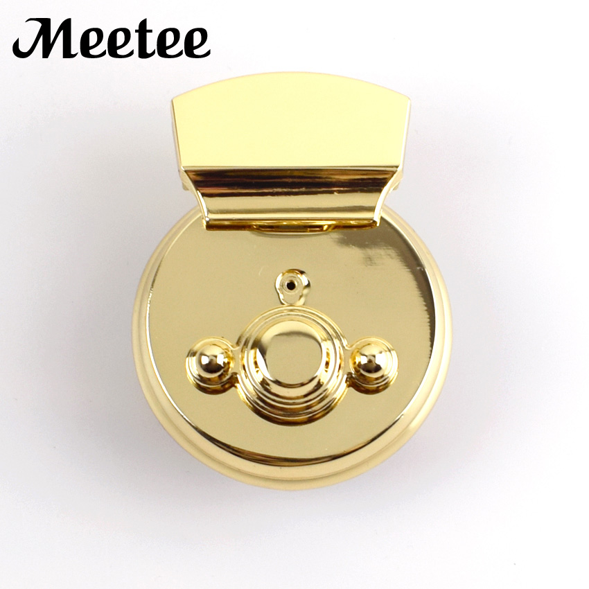 Arts,crafts & Sewing Knowledgeable 2pcs Fashion Light Gold Metal Trunk Locks Replacement Bags Snap Hooks Purse Clasp Closure Lock Diy Crafts Accessories Ky2066 Excellent Quality
