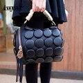 Aequeen lujo cuero de las mujeres bolso de la borla de crossbody bag messenger bag hombro de las mujeres mini bolso del cubo