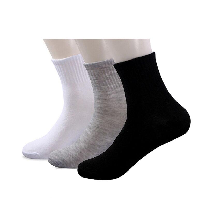 10 pairs/lot Mens White   Socks   Sport Casual Black   Socks   Men Bath Indoor Floor Tube Disposable   Socks   Cheapest Size39-43 Wholesale
