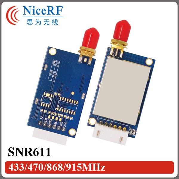 2 шт./упак. 100 МВт 1400 м Long Distance Range 433 МГц Порт RS485 Network Node Модуль SNR611 Польза для Дистанционного телеметрии