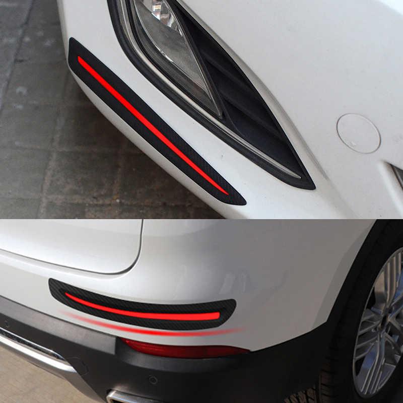 Fibre de carbone voiture pare-chocs éraflure protecteur bandes anti-rayures autocollant Auto corps protecteur cantonnière menton voiture style bande de caoutchouc
