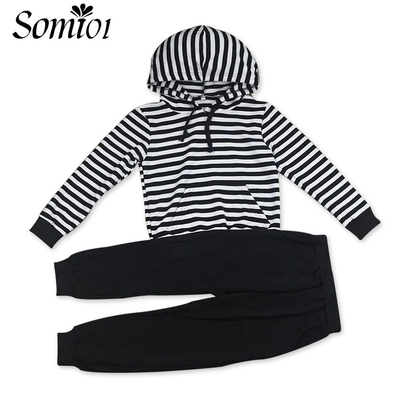 3 5 7 9 10 12 15 Years Girls Striped Clothing Suits 2017 Children Kids Spring Autumn Sportswear Tops Pants Sets Baby Girl Outfit random 10 items   fashion 5 outfit   5