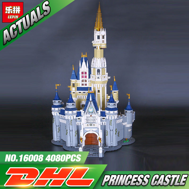 LEPIN 16008 Cinderella Princess Castle City  Model Building Block Kid Educational Toys For Children Gift Compatible 71040 hot cinderella princess castle city model building block kid educational brick toy for compatible lepins christmas children gift