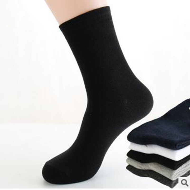 Men Socks Classic Business brand Mens Business Polo Combed Cotton Casual Dress 5pairs