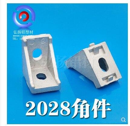 Möbel Hardware Eckverbinder 20 Teile/lose 2028 Eckbeschlag Winkel Aluminium 28x28 L Connector Bracket Verschluss Spiel Verwendung 2028 Industriellen Aluminiumprofil