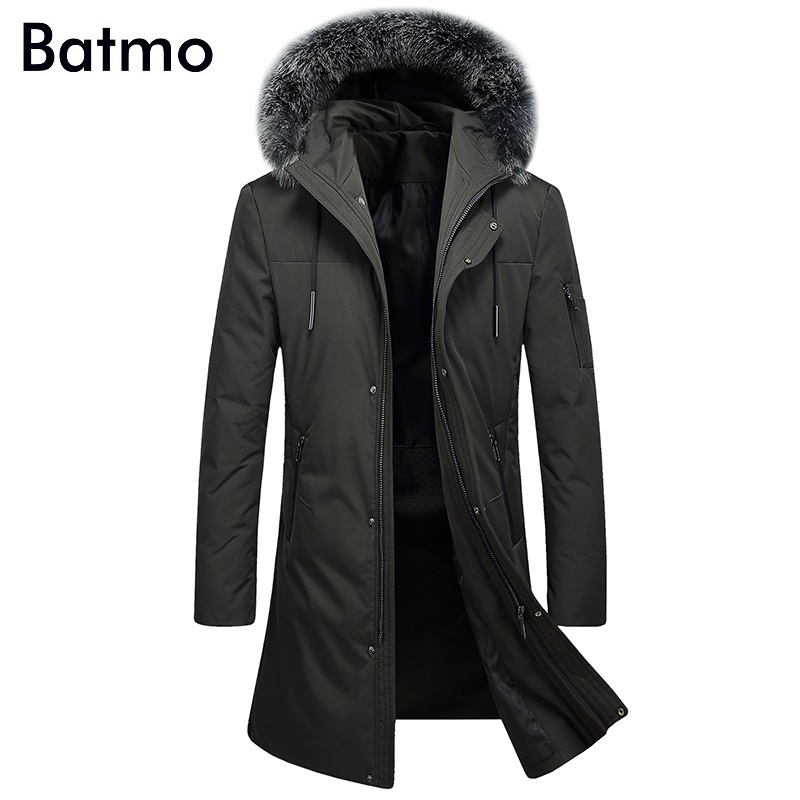Batmo 2017 new arrival winter high quality hooded white duck down jakcet men,winter thick coat men 9602